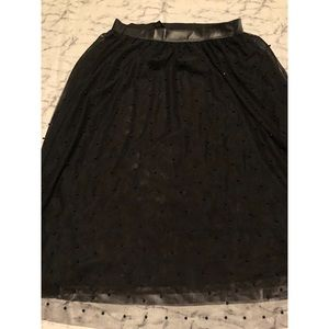Black Pearl and Tulle Skirt- Sz Lg NWOT